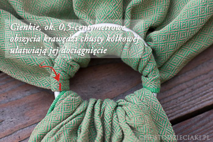 Krawędź chusty kółkowej Storchenwiege